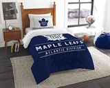 "Toronto Maple Leafs NHL ""Draft"" Twin Comforter Set"