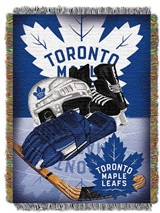 "Toronto Maple Leafs NHL ""Home Ice Advantage"" Woven Tapestry Throw"