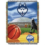 "U Conn Huskies NCAA ""Home Field Advantage"" Woven Tapestry Throw"