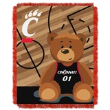 "U. of Cincinnati ""Fullback"" Baby Woven Jacquard Throw"