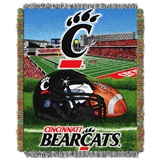 "U. of Cincinnati ""Home Field Advantage"" Woven Tapestry Throw"