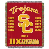 "USC ""Commemorative"" Woven Tapestry Throw"