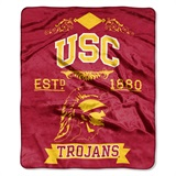 "USC ""Label"" Raschel Throw"