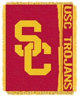 "USC Trojans NCAA ""Double Play"" Woven Jacquard Throw"
