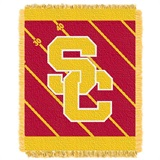 "USC  Trojans NCAA ""Fullback"" Baby Woven Jacquard Throw"