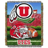 "Utah ""Home Field Advantage"" Woven Tapestry Throw"