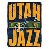 "Utah Jazz NBA ""Clear Out"" Micro Raschel Throw"