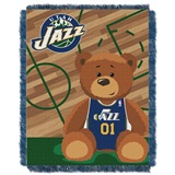 "Utah Jazz NBA ""Half-Court"" Baby Woven Jacquard Throw"