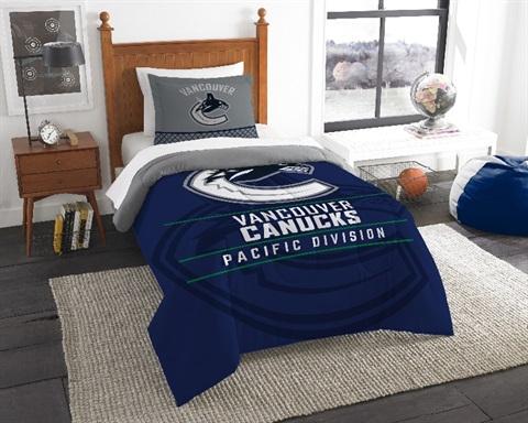 Vancouver Canucks NHL Draft Twin Comforter Set