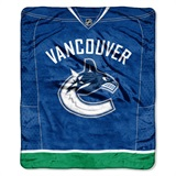 "Vancouver Canucks NHL ""Jersey"" Raschel Throw"