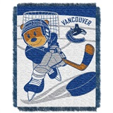"Vancouver Canucks NHL ""Score Baby"" Baby Woven Jacquard Throw"