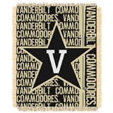 "Vanderbilt Commodores NCAA ""Double Play"" Woven Jacquard Throw"