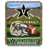 "Vanderbilt ""Home Field Advantage"" Woven Tapestry Throw"