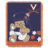 "Virginia Cavaliers NCAA ""Fullback"" Baby Woven Jacquard Throw"