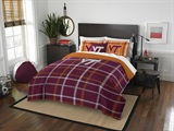 Virginia Tech Full Comforter & Sham Set