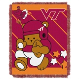 "Virginia Tech ""Fullback"" Baby Woven Jacquard Throw"