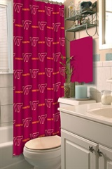 Virginia Tech Hokies NCAA Shower Curtain