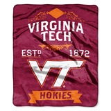 "Virginia Tech ""Label"" Raschel Throw"