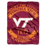 "Virginia Tech ""Rebel"" Raschel Throw"