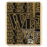 "Wake Forest Deacons NCAA ""Double Play"" Woven Jacquard Throw"