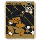 "Wake Forest Deacons NCAA ""Fullback"" Baby Woven Jacquard Throw"
