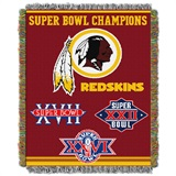 "Washington Redskins ""Commemorative"" Woven Tapestry Throw"