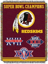 "Washington Redskins NFL ""Commemorative"" Woven Tapestry Throw"