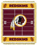 "Washington Redskins NFL ""Field"" Baby Woven Jacquard Throw"