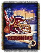 "Washington Redskins NFL ""Home Field Advantage"" Woven Tapestry Throw"