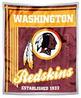 "Washington Redskins ""Old School"" Mink with Sherpa Throw"