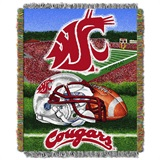 "Washington State ""Home Field Advantage"" Woven Tapestry Throw"
