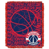 "Washington Wizards NBA ""Double Play"" Woven Jacquard Throw"