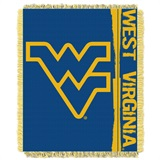 "West Virginia ""Double Play"" Woven Jacquard Throw"