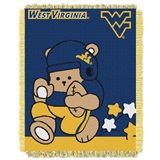 "West Virginia ""Fullback"" Baby Woven Jacquard Throw"