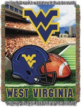 "West Virginia Mountaineers NCAA ""Home Field Advantage"" Woven Tapestry"