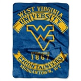 "West Virginia ""Rebel"" Raschel Throw"