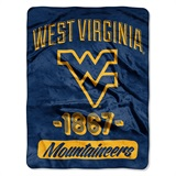 "West Virginia ""Varsity"" Micro Raschel Throw"
