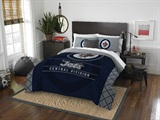 "Winnepeg Jets NHL ""Draft"" Full/Queen Comforter Set"