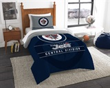 "Winnepeg Jets NHL ""Draft"" Twin Comforter Set"