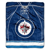 "Winnepeg Jets NHL ""Jersey"" Raschel Throw"