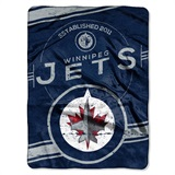 "Winnepeg Jets NHL ""Stamp"" Raschel Throw"