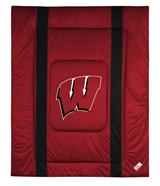Wisconsin Badgers Sidelines Twin Comforter