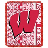 "Wisconsin ""Double Play"" Woven Jacquard Throw"