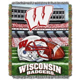 "Wisconsin ""Home Field Advantage"" Woven Tapestry Throw"