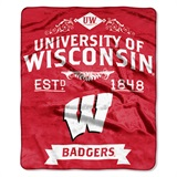 "Wisconsin ""Label"" Raschel Throw"