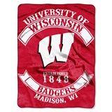 "Wisconsin ""Rebel"" Raschel Throw"