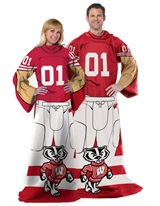 "Wisconsin ""Uniform"" Adult Comfy Throw"