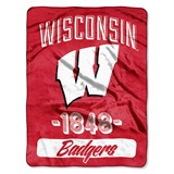 "Wisconsin ""Varsity"" Micro Raschel Throw"