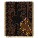 "Wyoming Cowboys NCAA ""Double Play"" Woven Jacquard Throw"