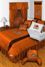 Buy Cleveland Browns team bedding, Comforters, Drapes, and Sheets